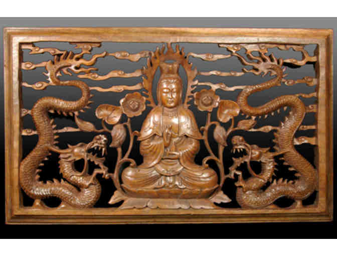 Tradewinds: 'The Face of Mercy' Wood Carving of Kwan Yin
