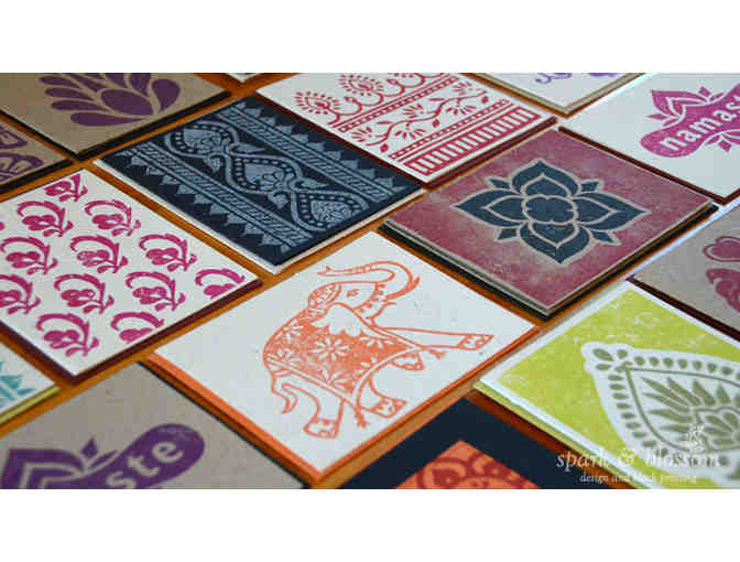 Spark and Blossom: $25 Gift Card for Hand Made Block Print Items