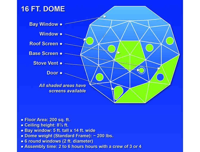 Pacific Domes International: 16 Ft. Basic Dome Package