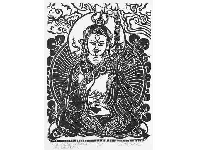Faith Stone: 'Padmasambhava: The Lotus Born' Numbered Woodblock Print
