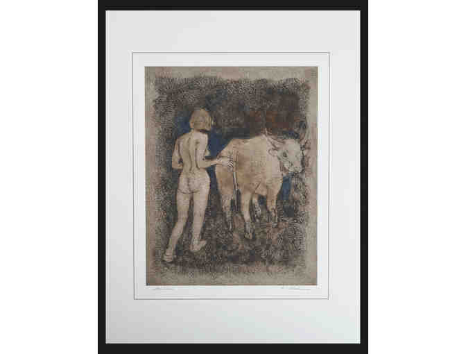 Michael Earl Anderson: Signed Print from the 'Mindful Ox' Drawing Series