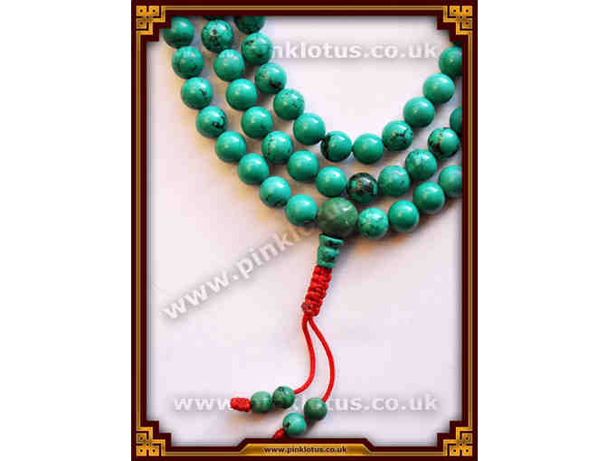 Pink Lotus Thangka and Dharma: Turquoise Mala