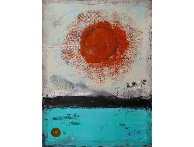 BoulderShop: 'Tibetan Sun' Original Abstract Painting
