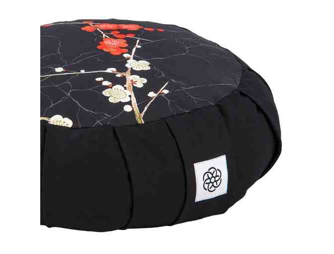 Dakini Meditative: 'Cherry Blossom' Motif Adult Zafu Meditation Cushion