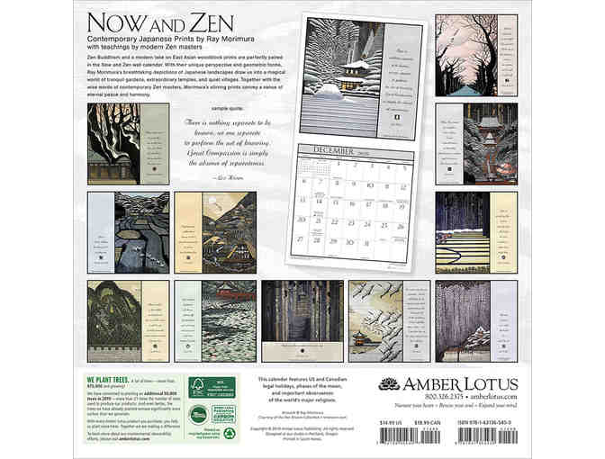 Amber Lotus Publishing: Now and Zen 2020 Wall Calendar