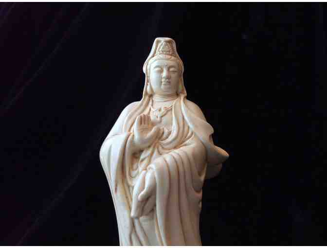 InspiredSculpture: 'Kuan Yin Crossing the Ocean with Dragon' Statue