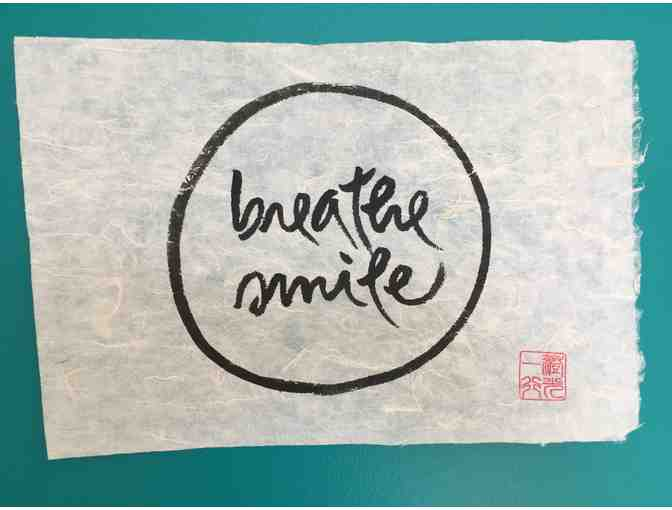 Thich Nhat Hanh: Original Calligraphy 'breathe smile'