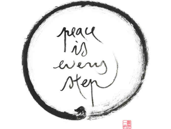 Lion's Roar Store: Thich Nhat Hanh 'Peace is every step' Fine Art Print, Large