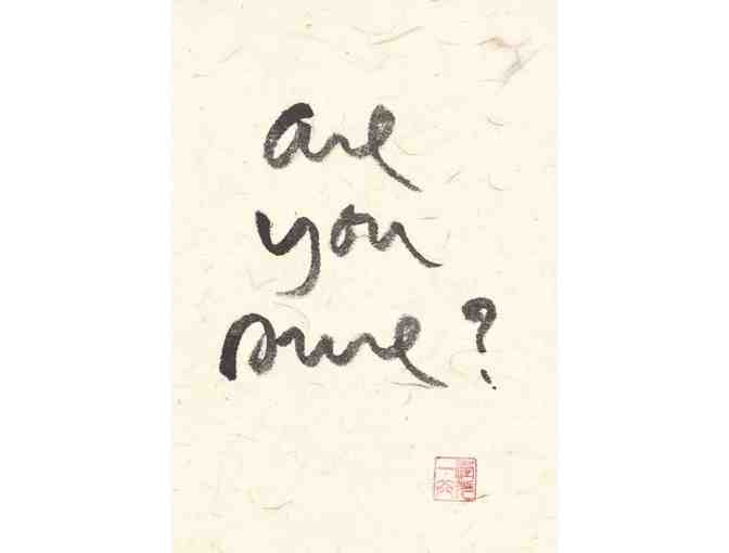 Lion's Roar Store: Thich Nhat Hanh 'Are you sure?' Fine Art Print, Large