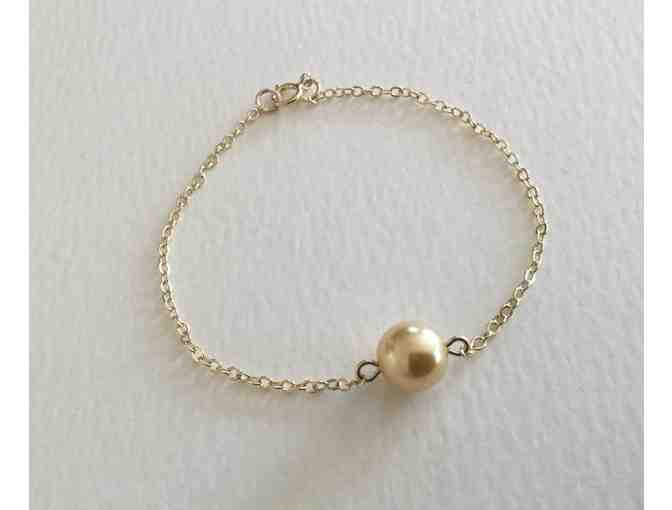 Chakra Gifts by Eve: Akoya Pearl Bracelet with 14K Gold-Filled Chain - Photo 2