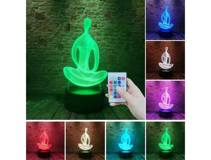 CosmicTempleVibes: 7-Color 3D Buddha Night Light