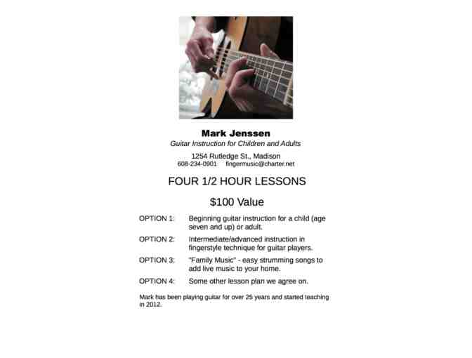 Four Half Hour Guitar Lessons from Mark Jenssen