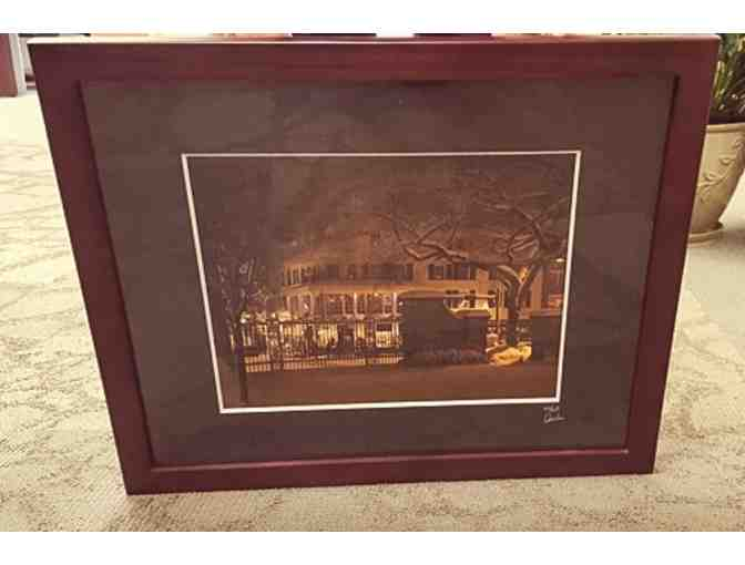 'A Winter's Night Scene of the Corner Room' Framed Photograph donated by HeimWorks Art