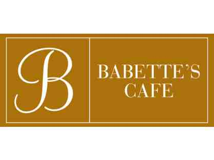 Babette's Cafe - $60 Gift Card