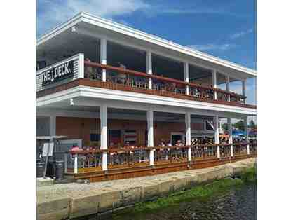 THE DECK RESTAURANT IN SALISBURY, MA $25 GIFT CARD