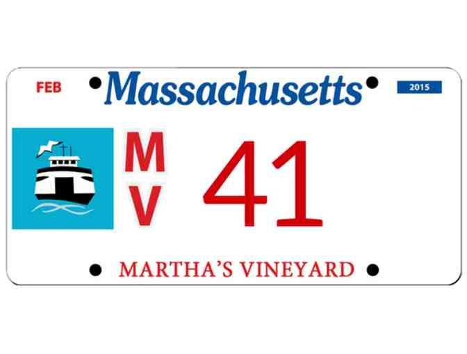 Martha's Vineyard License Plate #41