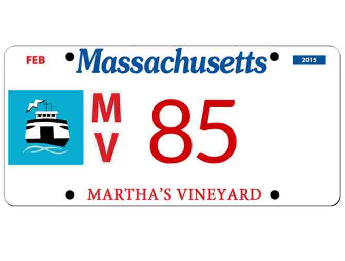 Martha's Vineyard License Plate #85