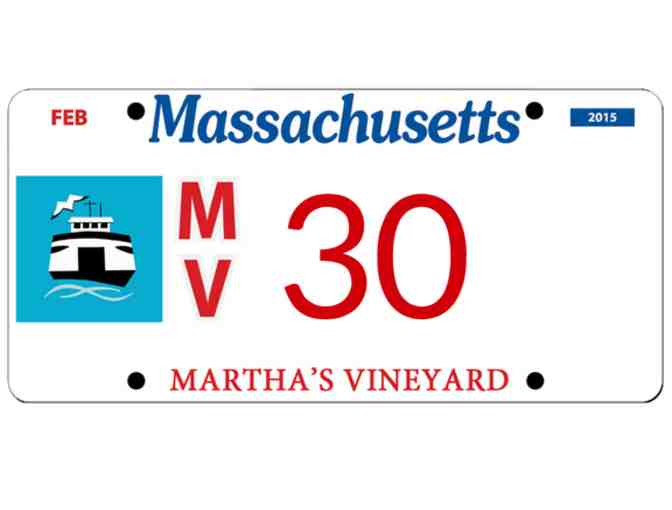 Martha's Vineyard License Plate #30