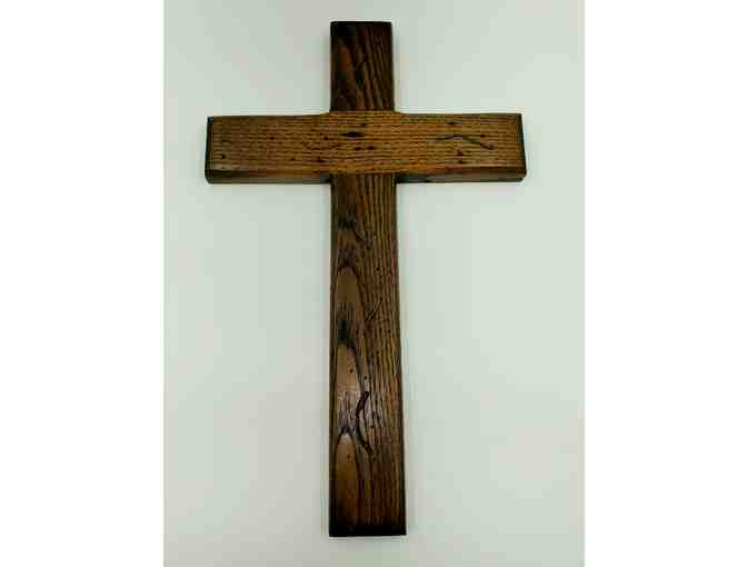 Handcrafted Wooden Cross & Wine