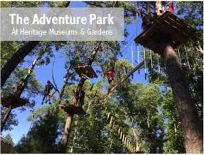 2 Tickets to Adventure Park at Heritage Museums and Gardens