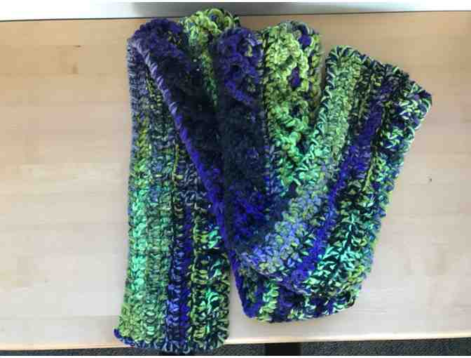 Scarves of Love - Purple and Green Scarf