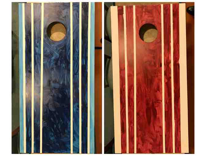 Made at Meeting Street: Corn Hole Bean Bag Toss Games, Stripes