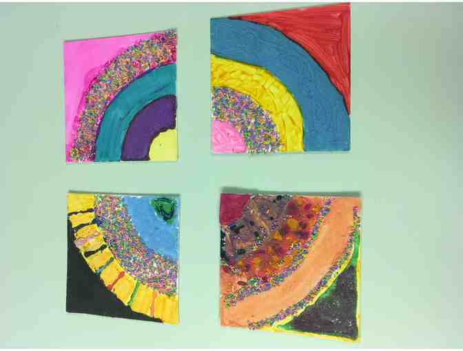 Schwartz School Student Art: Six Coordinating Canvases