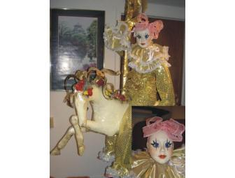 Carousel Horse (paper-mache) with porcelain Doll (Chantelle)