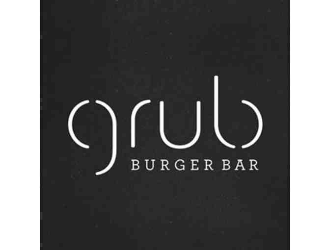 Grub Burger Bar Menu Tasting for 8, including cocktails