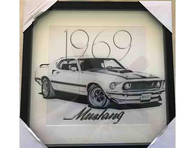 1969 Mustang Layered Picture - Framed - Photo 1
