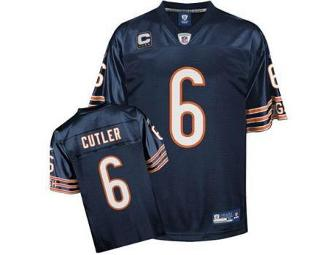 Autographed # 6 Chicago Bears Jersey by quarterback Jay Cutler