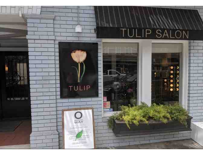 Tulip Salon:  A woman's haircut valued at $100.