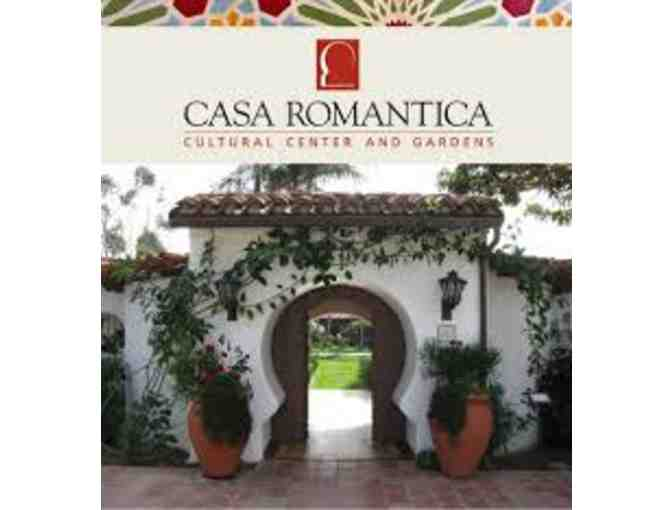 Casa Romantica Cultural Center & Gardens - One Year Family  Plus Membership