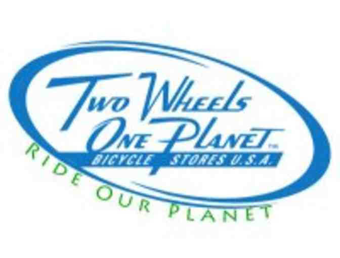 Two Wheels One Planet Bicycle Stores $30 Gift Certificate