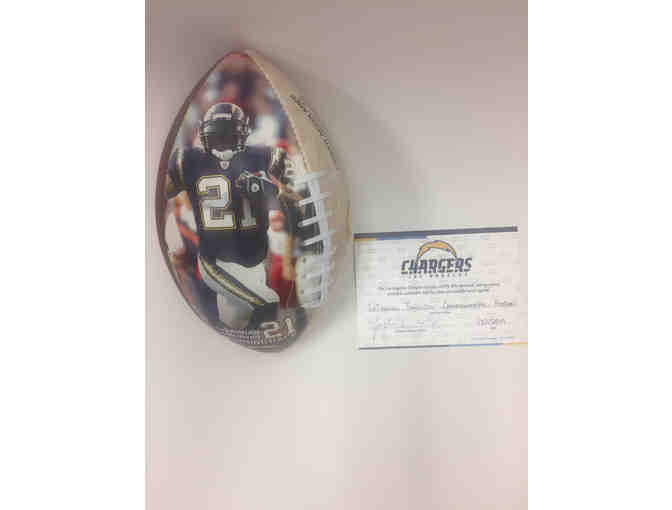 Los Angeles Chargers -LaDainian Tomlinson Signed Commemorative Football