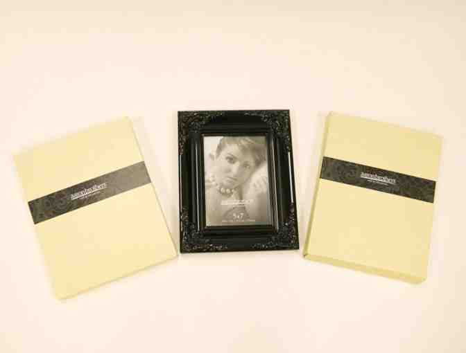 Aaron Brothers - Set of 2 Victorian Gloss 5x7 Black Frames