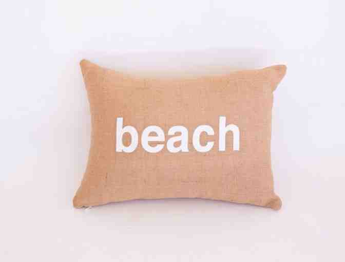 L & G Designs Beach Pillow