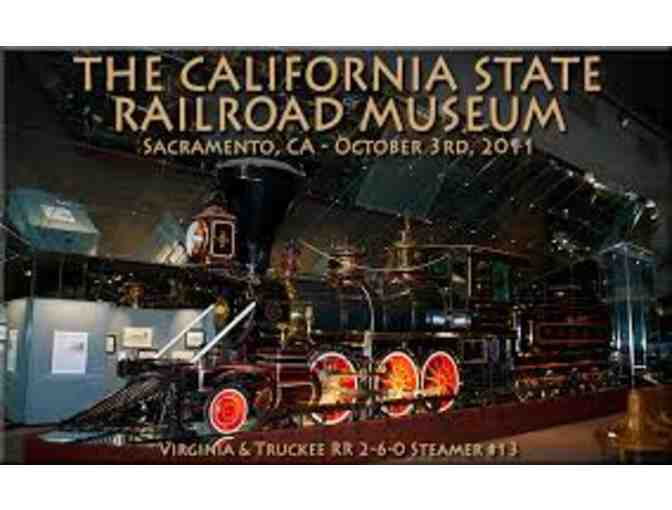 California State Railroad Museum -4 Passes for Rides