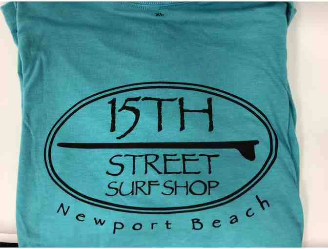 15th Street Surf Shop Turquoise Shirt