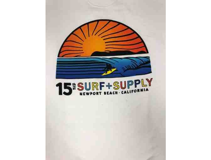 15th Street Surf Supply White Sweatshirt