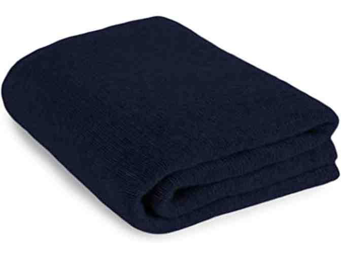 Cashmere Throw in Navy Blue