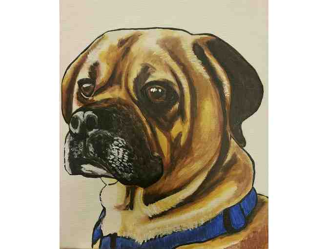 Hand Painted Custom Pet Portrait by Ana Munoz