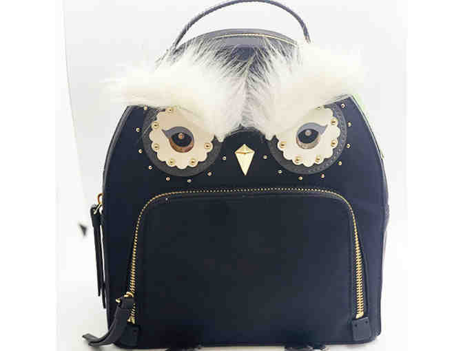 Kate Spade Black Owl Small Backpack - Photo 1