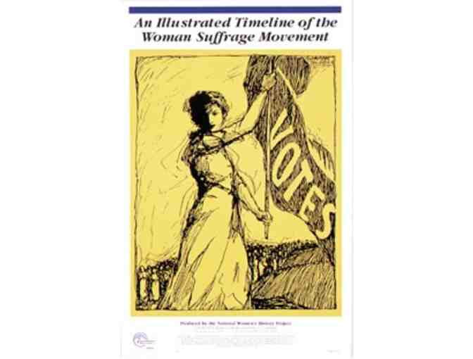 CD of Illustrated Timeline of Woman Suffrage Prints set of 8 - 11' x 17'