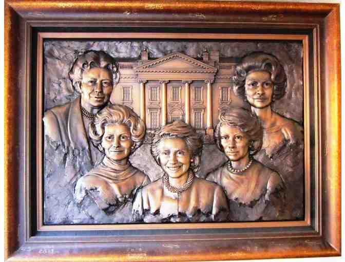 First Ladies Who Worked For Women's Rights Bas Relief Sculpture