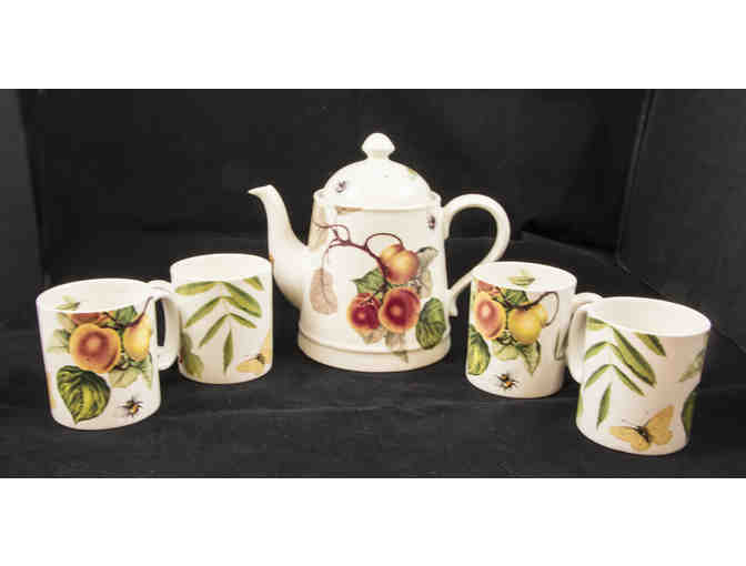 Spode Fruit Haven Coffee Pot and Four Cups