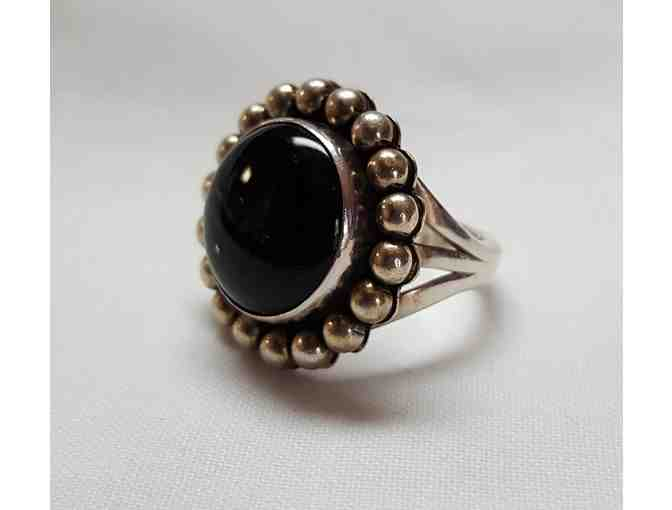 Black Onyx and Sterling Silver Ring by Little Yellowhorse - Photo 1
