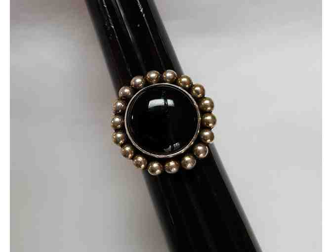 Black Onyx and Sterling Silver Ring by Little Yellowhorse - Photo 2
