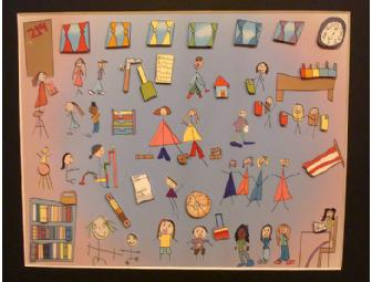 Raspberry Kidz Print depicting Ms. Lennard's First Grade Classroom 'INSIDE'