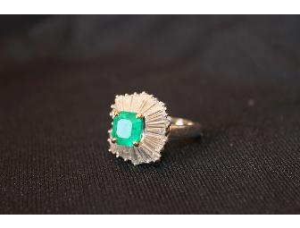 Emerald and Diamond Ring/Pendant - Photo 1